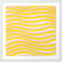 waves at sunrise Art Print
