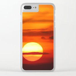 Sunset at Devil's Dyke (UK) Clear iPhone Case