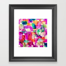 Wild Eye Pink Framed Art Print
