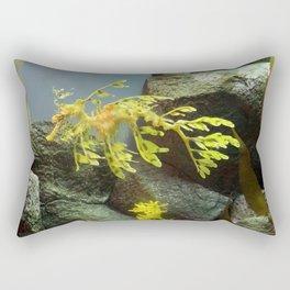 Leafy Sea Dragon with Rocks Rectangular Pillow