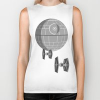 death star Biker Tanks featuring Star Wars Death Star by foreverwars