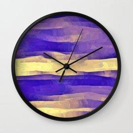 Purple Passion Sky Wall Clock