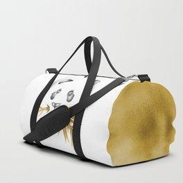 Panda Bear & Bamboo - Gold Bamboo Duffle Bag