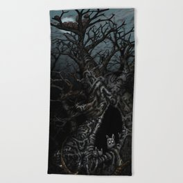 In The Trees Beach Towel