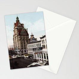 Wisconsin Street In Milwaukee - 1900 Photochrom Stationery Cards