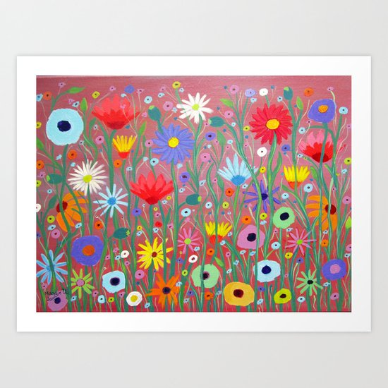 Flowers-Abstracts  Art Print
