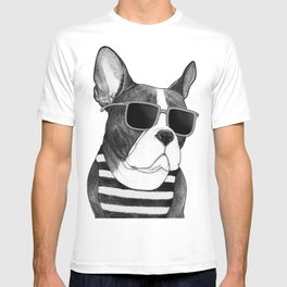 Frenchie Summer Style b&w T-shirt
