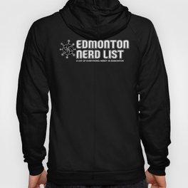 Edmonton Nerd List (B&W on dark) Hoody