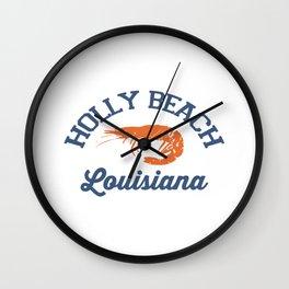 Holly Beach - Louisiana. Wall Clock