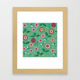 Floral pattern # C10 Framed Art Print