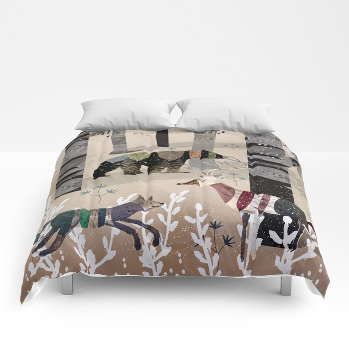 Forest in Sweater Comforters