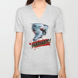 Sharknado - Sharks in Tornadoes - Shark Attack - Shark Tornado Horror Movie Parody Unisex V-Neck
