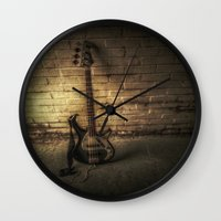 bass Wall Clocks featuring BASS-ICS by Andy Burgess