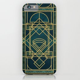 Art Deco Elegant Gatsby Style iPhone Case