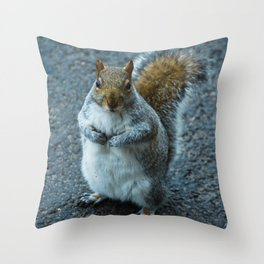 Feeling Nutty Throw Pillow