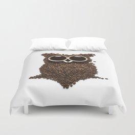 Coffee Owl Duvet Cover
