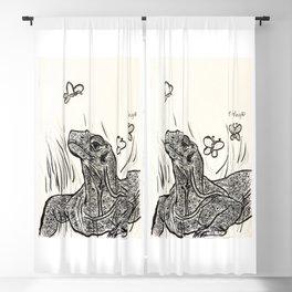 Komodo Dragon Basking in Beauty Blackout Curtain