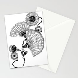 Daisies and Lines - 2 Stationery Cards