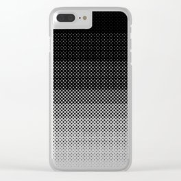 A lot of dots, like a lot. Then less dots. Lesser and lesser and lesser, untili no dblack dots anymo Clear iPhone Case