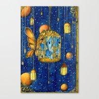 lanterns Canvas Prints featuring Lanterns by Anca Chelaru