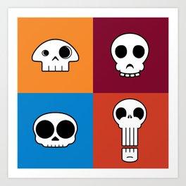 Skull Coasters Art Print