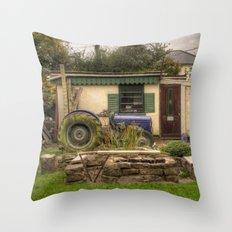 Tractor Garden Throw Pillow