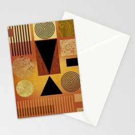 GEO-1 | yellow gold Stationery Cards