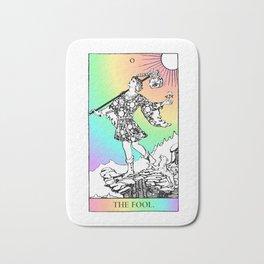 0. The Fool- Pastel Rainbow Tarot Bath Mat