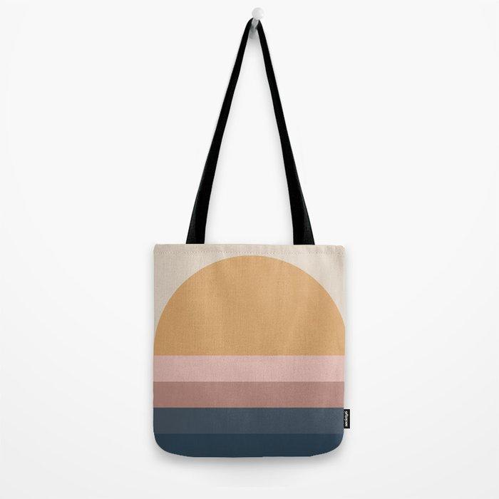 Minimal Retro Sunset - Neutral Tote Bag