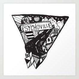 Psychoville black ink drawing Art Print