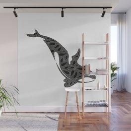 mandala whale Wall Mural