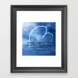 Colossians 3:13 Framed Art Print