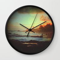 paradise Wall Clocks featuring Paradise by Daniel Montero