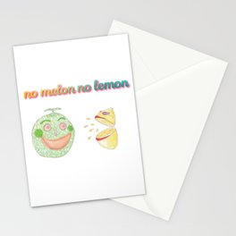 no melon no lemon Stationery Cards