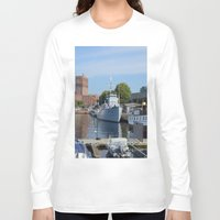 oslo Long Sleeve T-shirts featuring Minesweeper Alta In Oslo by Malcolm Snook