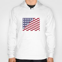 american flag Hoodies featuring American Flag by Mychal Diaz