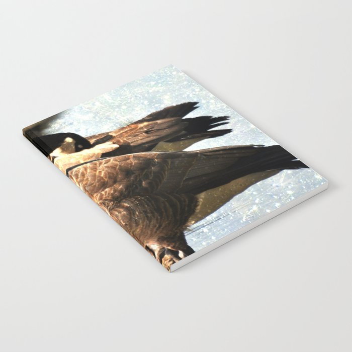 GEESE ON A LOG Notebook