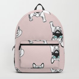 Blush pink Frenchies Backpack