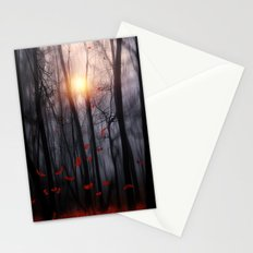 Red feather dance  -  by Viviana Gonzalez Stationery Cards