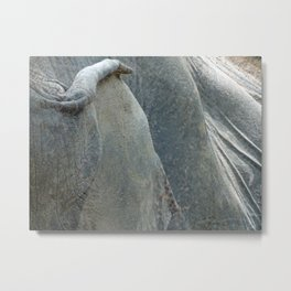 elephant hide grey texture Metal Print