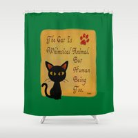 whimsical Shower Curtains featuring Whimsical  by BATKEI