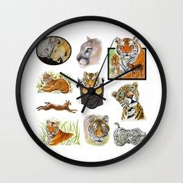 Big Cat Sticker Pack 1 Wall Clock