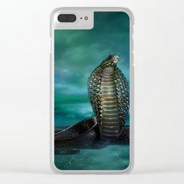 Egyptian Cobra Digital Art Clear iPhone Case