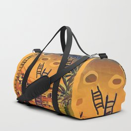 Time through Time, from Caves to Skyscraper, from Organic to Geometric Duffle Bag