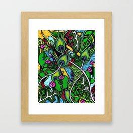 Peacock Paradise Framed Art Print