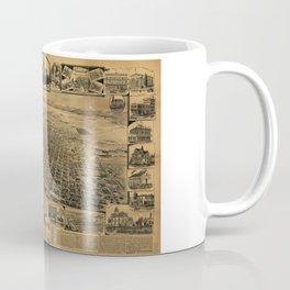 Aerial View of Sacramento, California (circa 1890) Coffee Mug