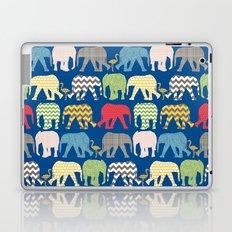 baby elephants and flamingos lapis Laptop & iPad Skin