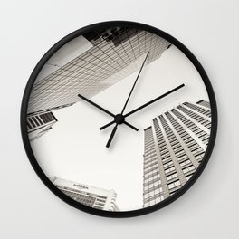 city view nyc Wall Clock