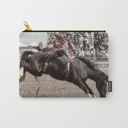 Cowboy Bronc Rider At The Rodeo Carry-All Pouch