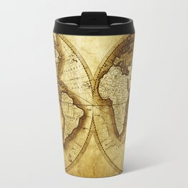 Antique Map of the World Travel Mug